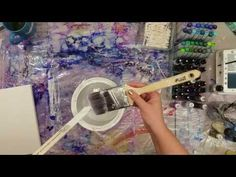 How To Prep Your Canvas For Alcohol Inks. - Alcohol Ink Painting On Canvas Alcohol Ink Crafts, Alcohol Ink Painting, Alcohol Ink Art, Tinta China, Posca, Painting On Wood, Watercolor Painting, Watercolor Trees, Pour Painting