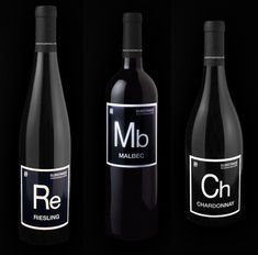 Periodic Table Inspired Wine bottles