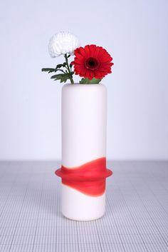 Hours Vase. One hour Orange.