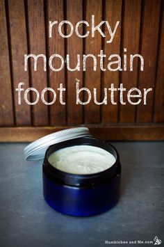 """Rocky Mountain Foot Butter - Humblebee & Me Kristin wrote me with the most lovely sounding recipe request—she was looking for a """"rich, tingly foot bu Diy Body Butter, Shea Butter, Lotion Recipe, Natural Beauty Recipes, Diy Lotion, Lotion Bars, Foot Cream, All Nature, Homemade Beauty Products"""