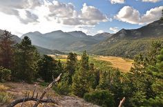 Upper Beaver Meadows and the Continental Divide, Rocky Mountain National Park by Morris Hersko, via Flickr
