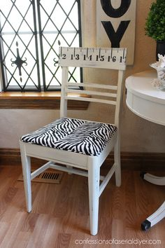 Sewing Chair with a Secret Compartment - I LOVE the piping on the seat. Includes a link to instructions for that