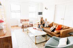 Amber Fillerup Clark NYC Living Room by Becki Owens | Rug: http://www.rugs-direct.com/Details/Safavieh-ThomFiliciaHandmade-TMF908/108503/185148?Source=Becki-Owens
