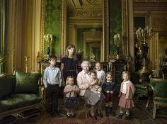 April 20, 2016 - TownandCountrymag.com ~ The Queen with her 2 youngest grandchildren and her 5 great-grandchildren.