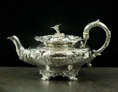 A William IV silver teapot, John Tapley, London 1835