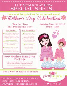 2nd annual Mother's Day celebration at Pretty in Pink Spa Studio