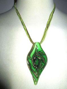 * * * Muranoglas-Anhänger grün * * * Pendant Necklace, Ebay, Jewelry, Fashion, Green Clocks, Fashion Jewelry, Moda, Jewlery, Jewerly