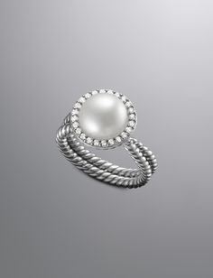 @Jackie Godbold Smith  Pave Diamond Cable Pearl Ring | Women Rings | David Yurman Official Store