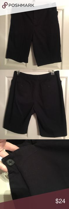 Lauren by Ralph Lauren Petite walking shorts Lauren by Ralph Lauren Petite walking shorts. Sz 12P. These look black in the pics but they are navy blue. Cute button detail on the front pockets. Shorts