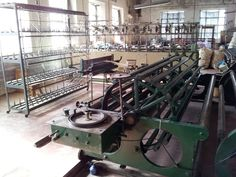 Antique weaving machines are still used in the Burel Factory in Manteigas - similar to Bayside Blanket and Toboggan Factory