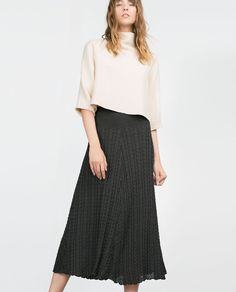 CABLE KNIT SKIRT-Midi-Skirts-WOMAN-SALE | ZARA United States