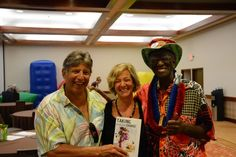 Trish Abeloff with Mark J and Wally Amos in Hawaii at Master Key Master Mind event