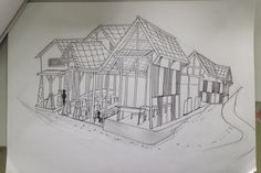 Perspective View Kantin Takor FISIP #architecture #2titiklenyap #perspective #sketch #exterior #canteen
