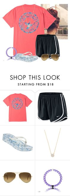 """""""I love Tory Burch flip flops!!"""" by flroasburn ❤ liked on Polyvore featuring NIKE, Tory Burch, Adina Reyter and Ray-Ban"""