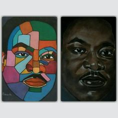 Martin Luther King.  Two different styls.  50x70 on canvas.  Artist-painter@outlook.com