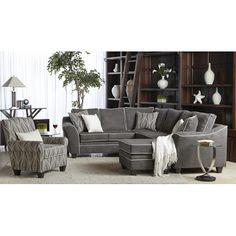 Found it at Wayfair - Centaur Sectional $1,279.98 I think this is the one!