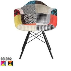 Shop for 2xhome Multi-color Patchwork Eames Modern Style Dark Wood Leg Armchair Featuring Multi-Pattern Fabric . Get free shipping at Overstock.com - Your Online Furniture Outlet Store! Get 5% in rewards with Club O!