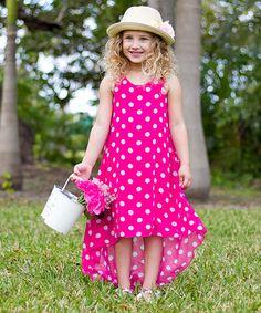 Look what I found on #zulily! Fuchsia Polka Dot Christy Dress - Toddler & Girls #zulilyfinds