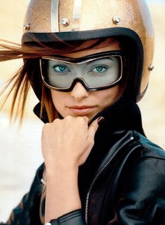 5a6df2eae1 Olivia Wilde  Razor Speedy~ I had a helmet like that when I had my