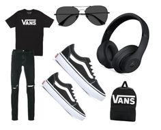 """Untitled #19"" by hessa-2009 on Polyvore featuring Vans, RtA, EyeBuyDirect.com, Beats by Dr. Dre, men's fashion and menswear"