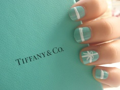 Tiffany & Co nails! I need to find a nail salon who can do this design or maybe it can be a future DIY project.