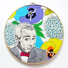 Embroidered PeeWee portrait by Lucky Jackson