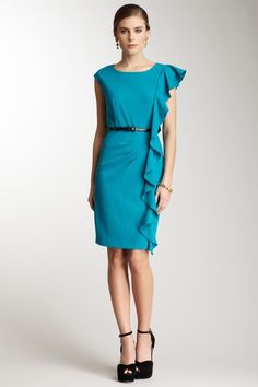 Believe it or not, I'm not normally big on women in ruffles but I like this one a lot! Calvin Klein on Hautelook