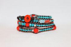 Beautiful Genuine Turquoise Bracelet by DaisysCuteAsAButton, $50.00