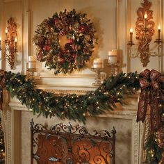 Majestic Double-sided Pre-lit Garland this would be best investment as it would be a perfect transitional garland to change over the years choice # 1 or 2