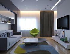 Проект однокомнатной квартиры для молодой девушки. - Дизайн интерьеров | Идеи вашего дома | Lodgers