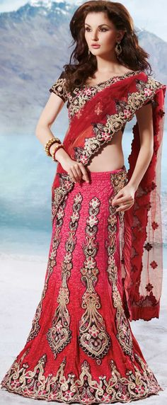 Bridal Lehenga Sarees 2015 Elegant Fashion (7)