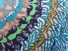 2 Yards Stretch Poly Lycra fabric Venechia Gorgeous feather bursts PRINT by ZanzaDesignsClothing on Etsy https://www.etsy.com/listing/196509003/2-yards-stretch-poly-lycra-fabric