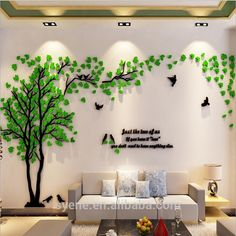 Large Size Couple Tree Mirror Wall Stickers TV Backdrop DIY Acrylic Autocollant Mural Home Decor Living Room Wall Decals Wall Stickers Tv, 3d Sticker, Wall Stickers Home Decor, Wall Decals, Wall Stickers For Living Room, Vinyl Decals, Tree Decals, Home Design, Wall Design