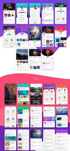 Bas Free Mobile UI Kit PSD with 100+ Screens