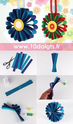 Creative for Kids Spring Crafts Preschool Paper Flowers For Kids, Paper Quilling Flowers, Paper Crafts For Kids, Diy Flowers, Preschool Crafts, Diy Paper, Easy Crafts, Diy And Crafts, Papier Kind