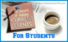 Discusses the various benefits to students who read current events, including scoring higher on SAT tests. #homeschool #currentevents #studentnewsdaily by A Slice of Homeschool Pie.com