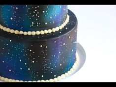 Airbrushed Galaxy Cake Tutorial, My Crafts and DIY Projects