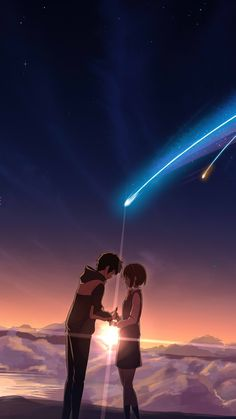 Kimi no na wa ✨ anime movie phone wallpaper ❣️ Enjoy! Anime Backgrounds Wallpapers, Anime Scenery Wallpaper, Cute Anime Wallpaper, Animes Wallpapers, Wallpaper Art, Desktop Wallpapers, Iphone Wallpaper, Kimi No Na Wa Wallpaper, Your Name Wallpaper
