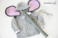 dare to be different with our Halloween DIY hoodie elephant costume