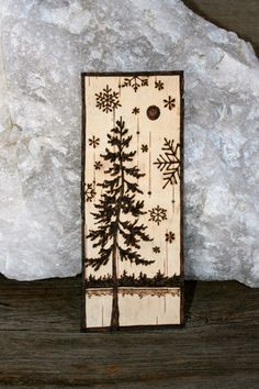 Birch Bark Bookmark  Winter Wonderland  Wood by TwigsandBlossoms, $10.00