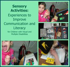 These sensory activities help children with visual impairments and multiple disabilities to develop communication and literacy skills. Education And Literacy, Preschool Special Education, Literacy Skills, Teaching Resources, Autism Activities, Sensory Activities, Classroom Activities, Autism Classroom, Multiple Disabilities