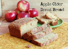Apple Cider Bread (Cider Donut Bread) that just happens to also be 100% whole wheat - no one will know! From It's Not Easy Eating Green