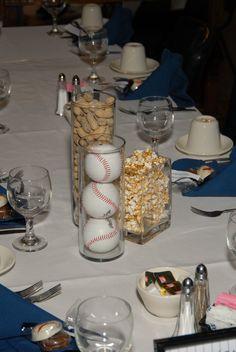 maybe vases or jars of peanuts, popcorn, crackerjacks, jellybeans, or licorice