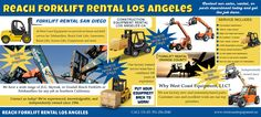 Visit this site  http://westcoastequipment.us/reach-forklift-rentals/ for more information on Reach Forklift Rental Los Angeles. Fully maintained Reach Forklift Rental Los Angeles assures the user will achieve peak efficiency of materials handling tasks at all times.Follow us http://www.purevolume.com/BoomLiftRentalLosAngeles