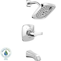 Delta Tesla H2Okinetic 1-Handle Tub and Shower Faucet Trim Kit in Chrome (Valve Not Included) 718212