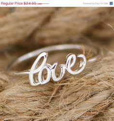 Hey, I found this really awesome Etsy listing at https://www.etsy.com/listing/209596043/sale-promise-ring-sterling-silver-love