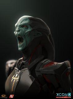 ArtStation - Xcom War of the Chosen - Chosen heads, Matthew Kean Alien Concept, Concept Art, Character Concept, Character Art, Mass Effect Characters, Best Pc Games, Best Gaming Laptop, Alien Design, Alien Creatures