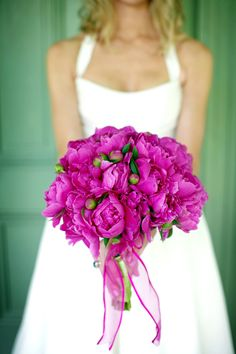 Spring Wedding Peony Bridal Bouquet