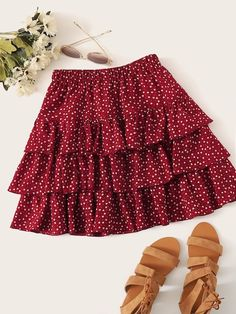 To find out about the Plus Confetti Heart Print Layered Skirt at SHEIN, part of our latest Plus Size Skirts ready to shop online today! Cute Skirt Outfits, Cute Skirts, Cute Casual Outfits, Girl Outfits, Fashion Outfits, Women's Skirts, Plaid Skirts, Mini Skirts, Look Fashion