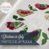 Christmas Partridge Applique Pattern - via @Craftsy